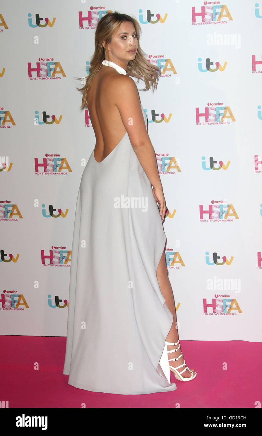 May 17, 2016 - Ferne McCann attending Lorraine's High Street Fashion Awards at Grand Connaught Rooms in London, - Stock Image