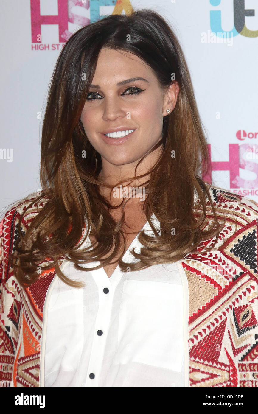 May 17, 2016 - Danielle Lloyd attending Lorraine's High Street Fashion Awards at Grand Connaught Rooms in London, - Stock Image