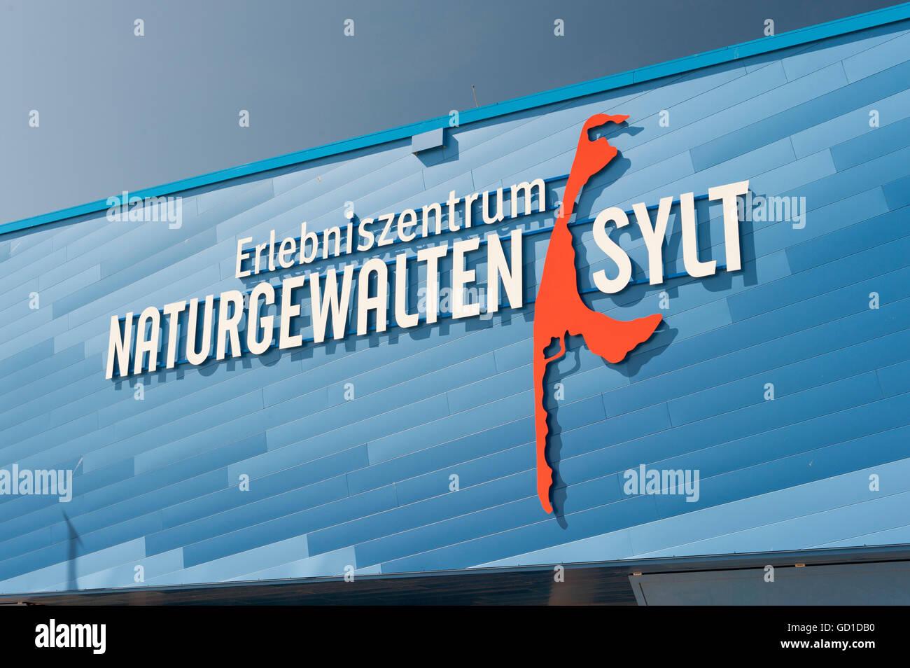 Erlebniszentrum Naturgewalten or Forces of Nature interactive museum, List, Sylt island, Schleswig-Holstein - Stock Image