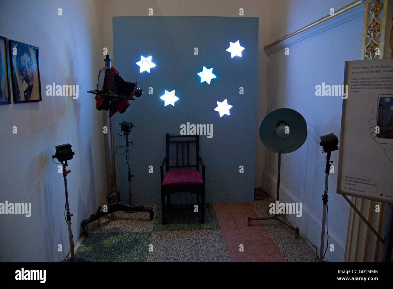 The image of Bollywood actor s photo studio in Gallery of BDL Musuem, Mumbai, India - Stock Image