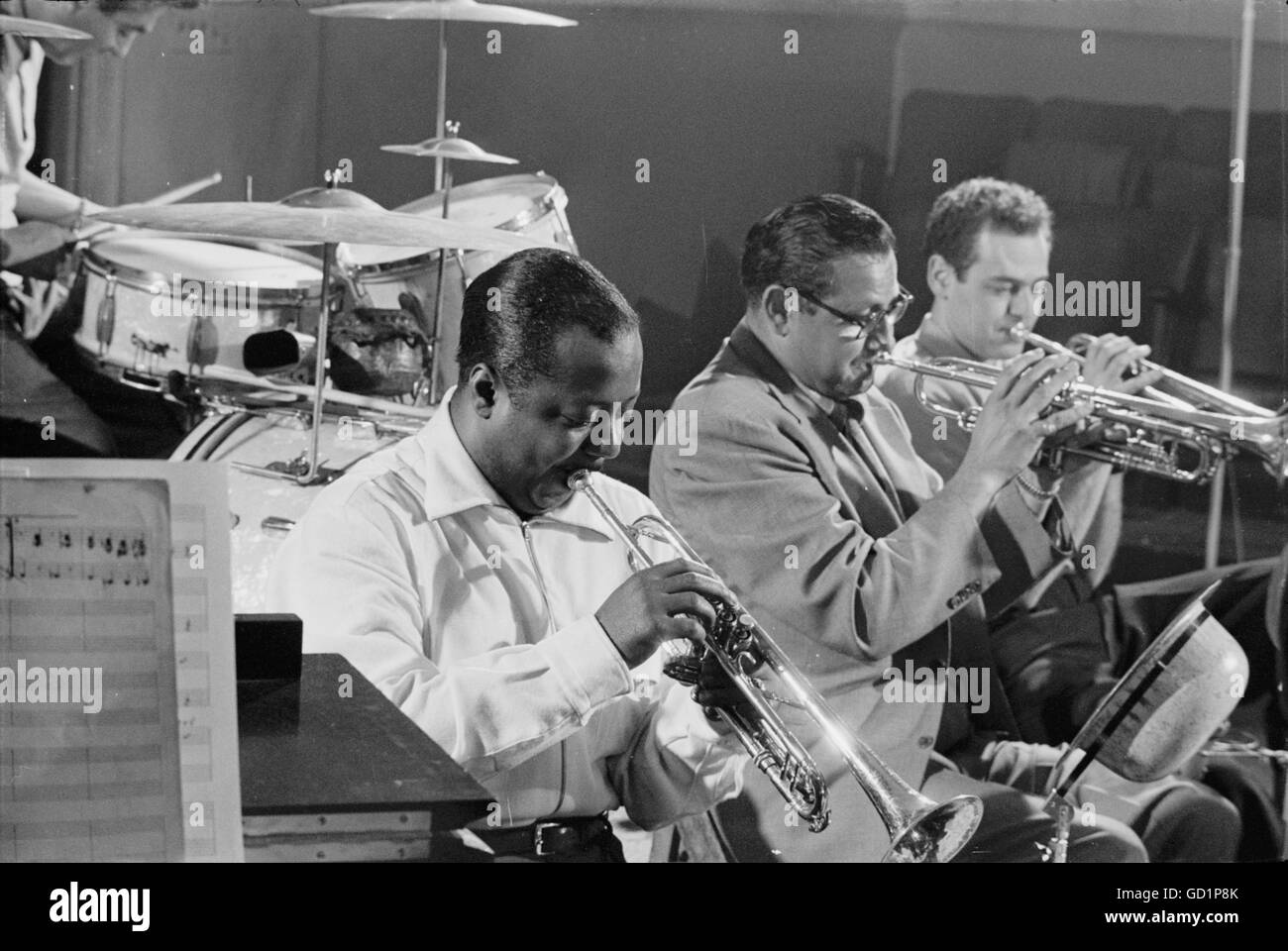 Charlie Shavers, Ziggy Elman, and Al Stewart - Stock Image