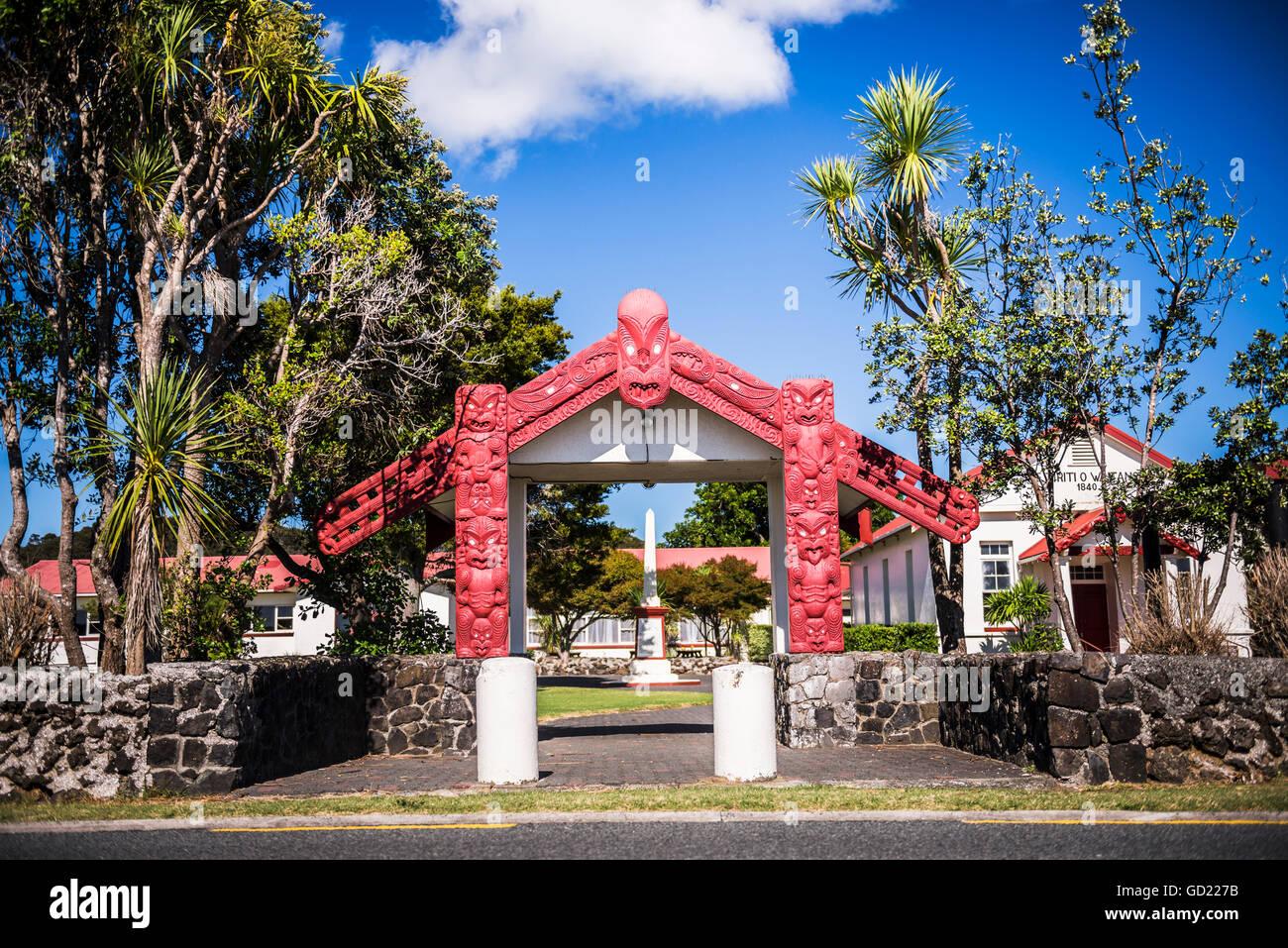 Maori Church, Waitangi Treaty Grounds, Bay of Islands, Northland Region, North Island, New Zealand, Pacific - Stock Image