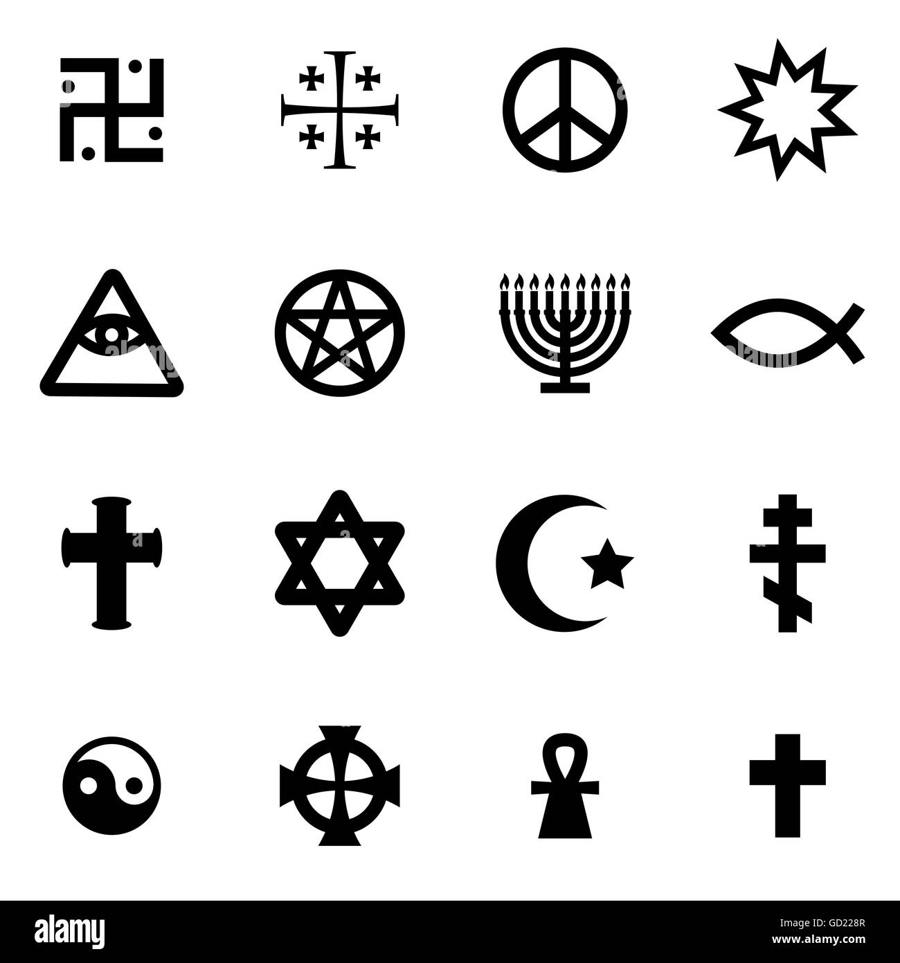 Religion Symbols Black And White Stock Photos Images Alamy