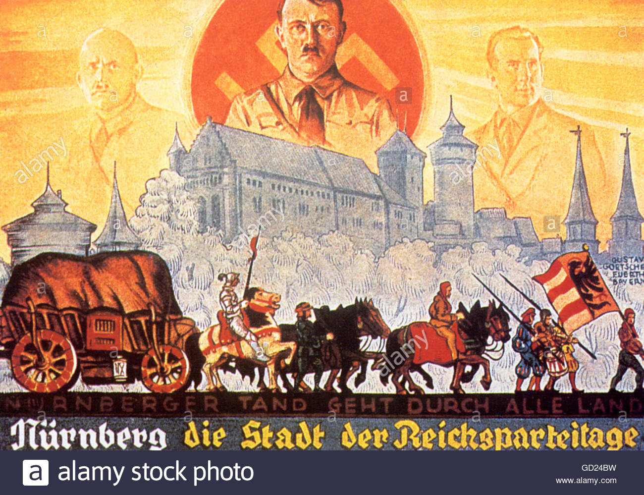 Nazism / National Socialism, propaganda, 'Nuremberg, the city of the Reich's Party Days', poster, September - Stock Image