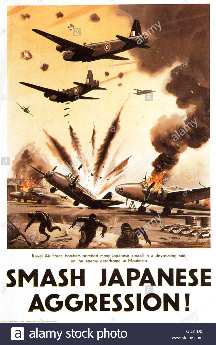 "events, Second World War / WWII, propaganda, Great Britain, poster, ""Smash Japanese Aggression"", circa 1942, Additional Stock Photo"