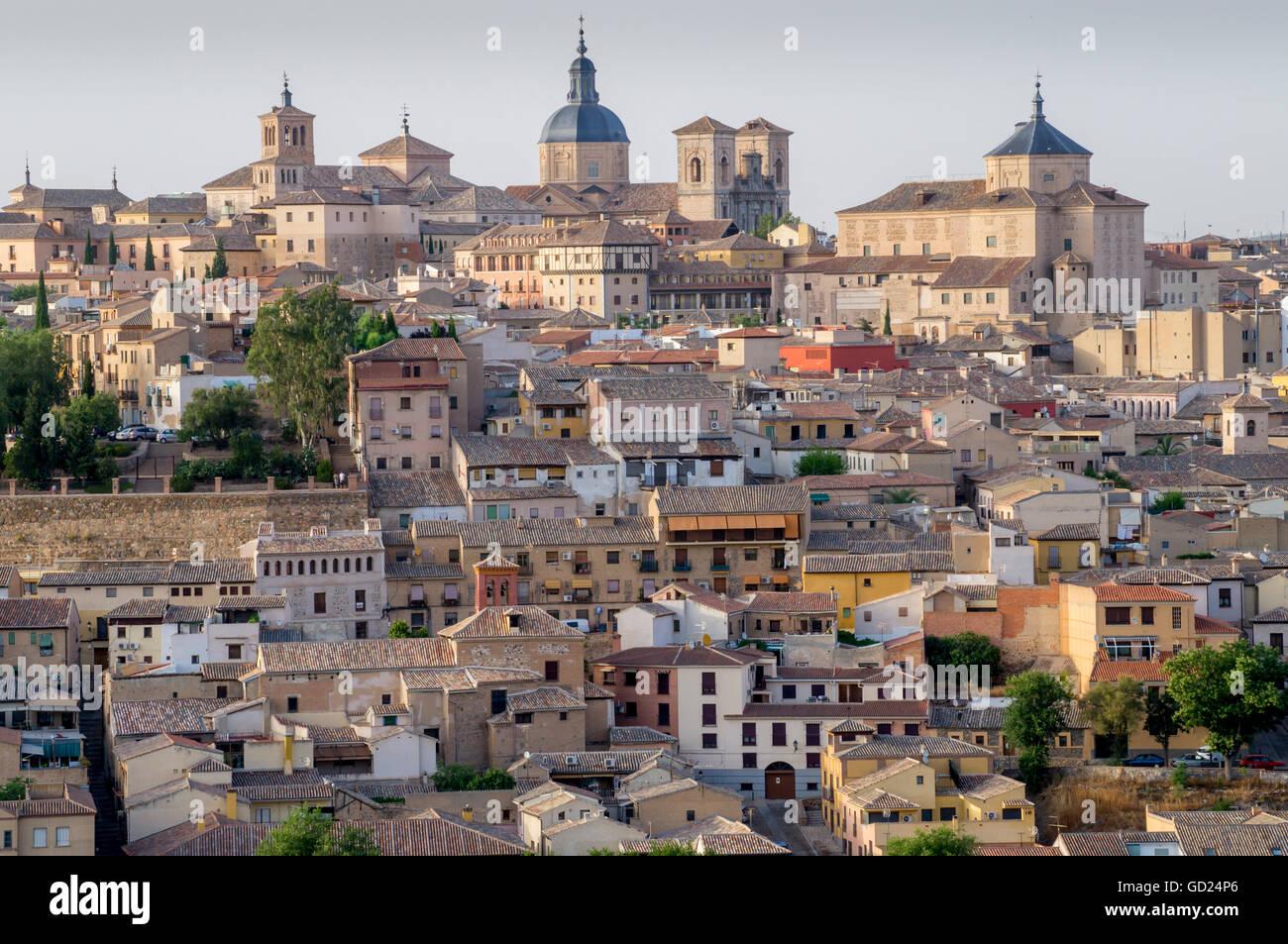 Cityscape, Toledo, Castile-La Mancha, Spain, Europe Stock Photo