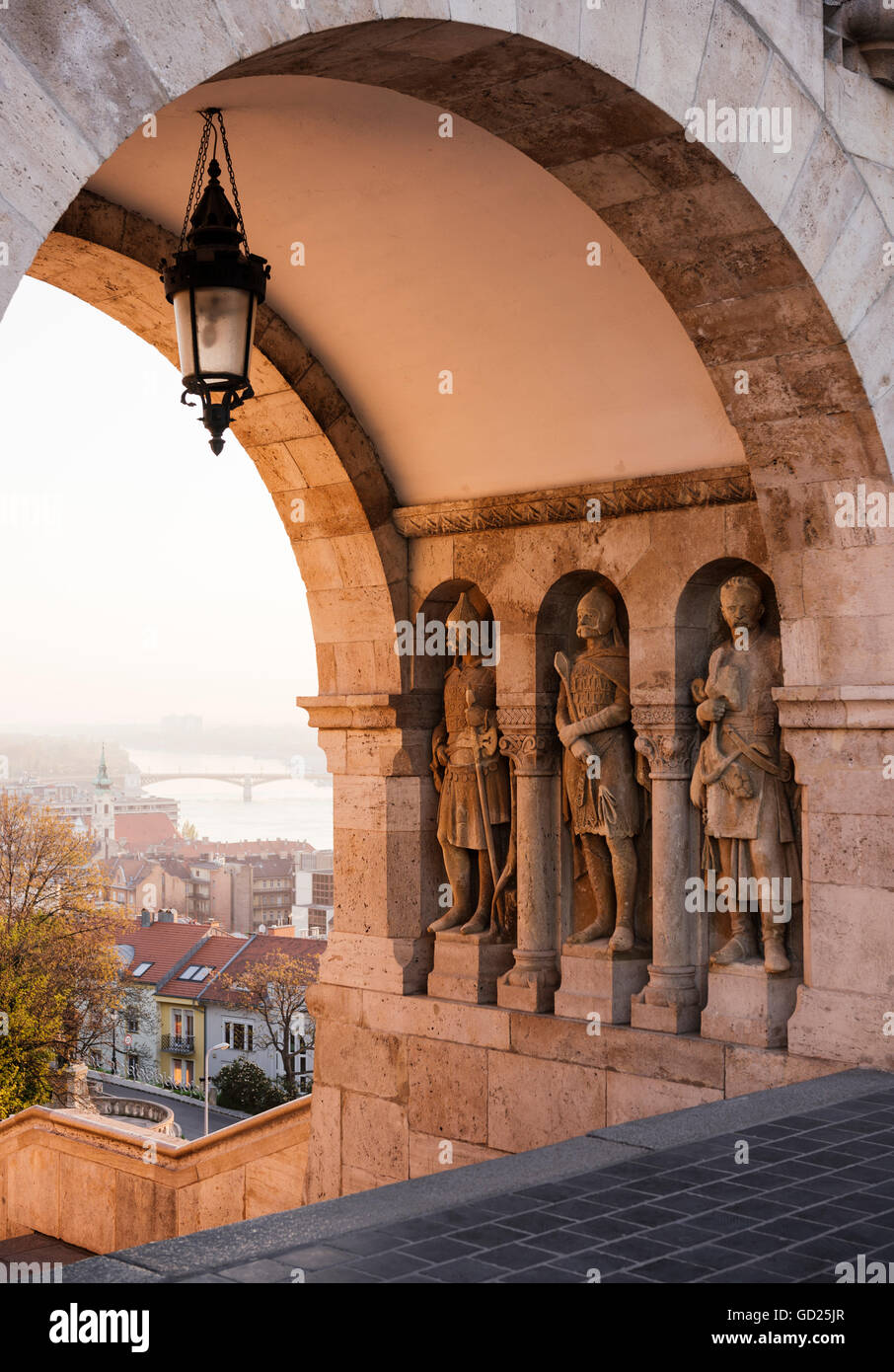 Fisherman's Bastion, Budapest, Hungary, Europe - Stock Image