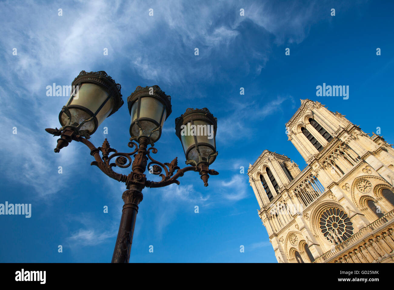 Notre Dame Cathedral, Paris, France, Europe - Stock Image