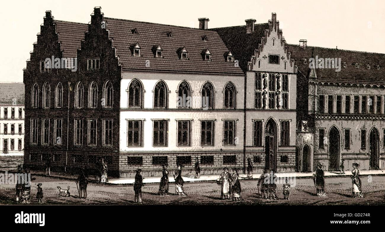 geography / travel, Germany, Hessen, Frankfurt on the Main, archive building, 1878 opened, in this building there - Stock Image