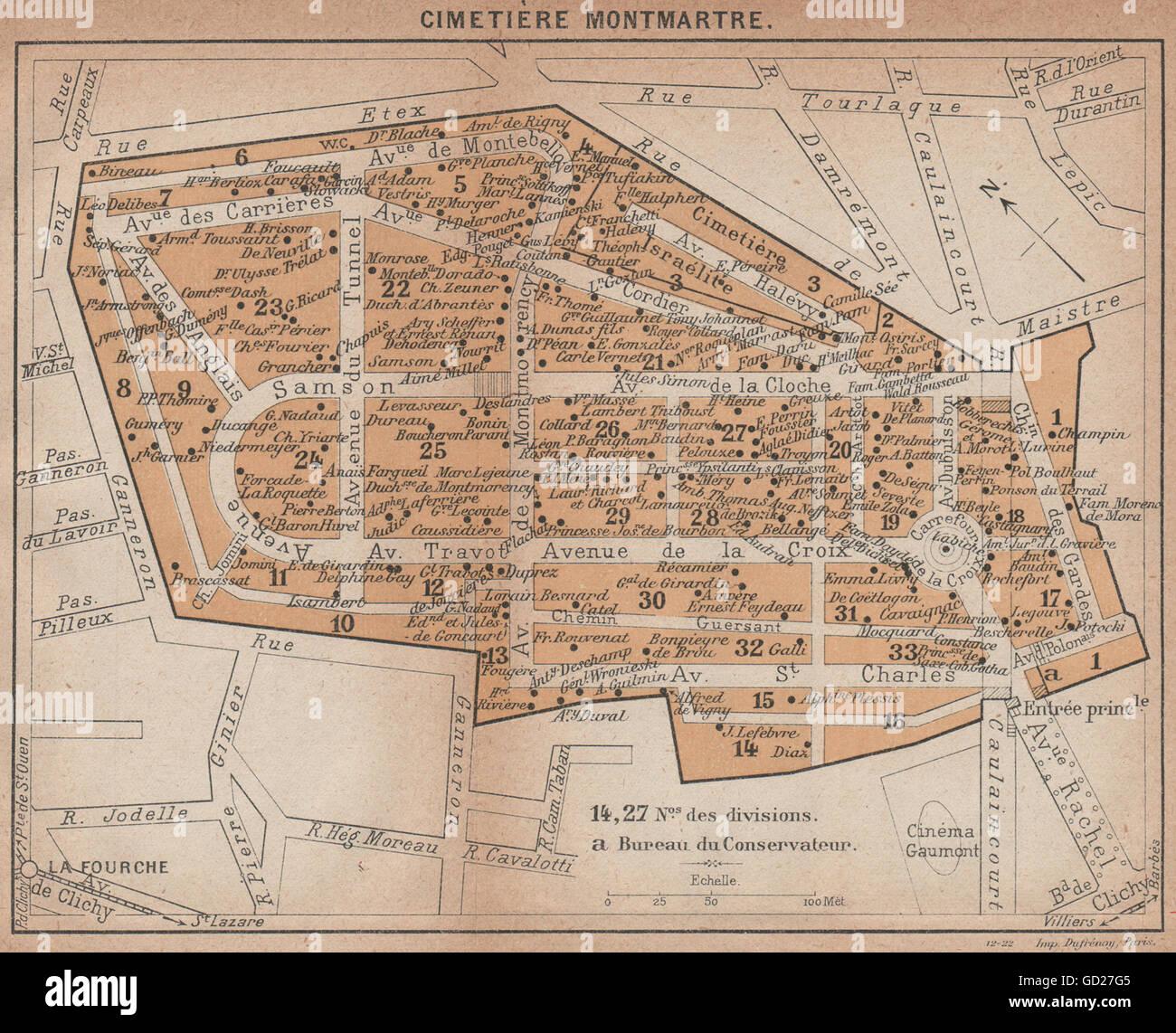 Montmartre Paris Map Stock Photos & Montmartre Paris Map ...