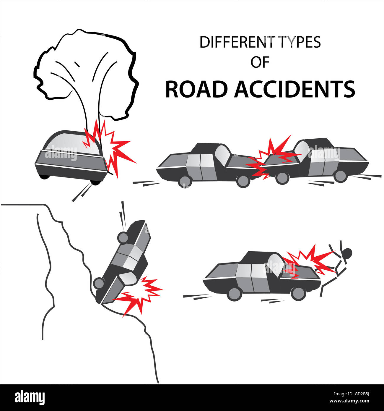 Road Accidents Stock Photos & Road Accidents Stock Images