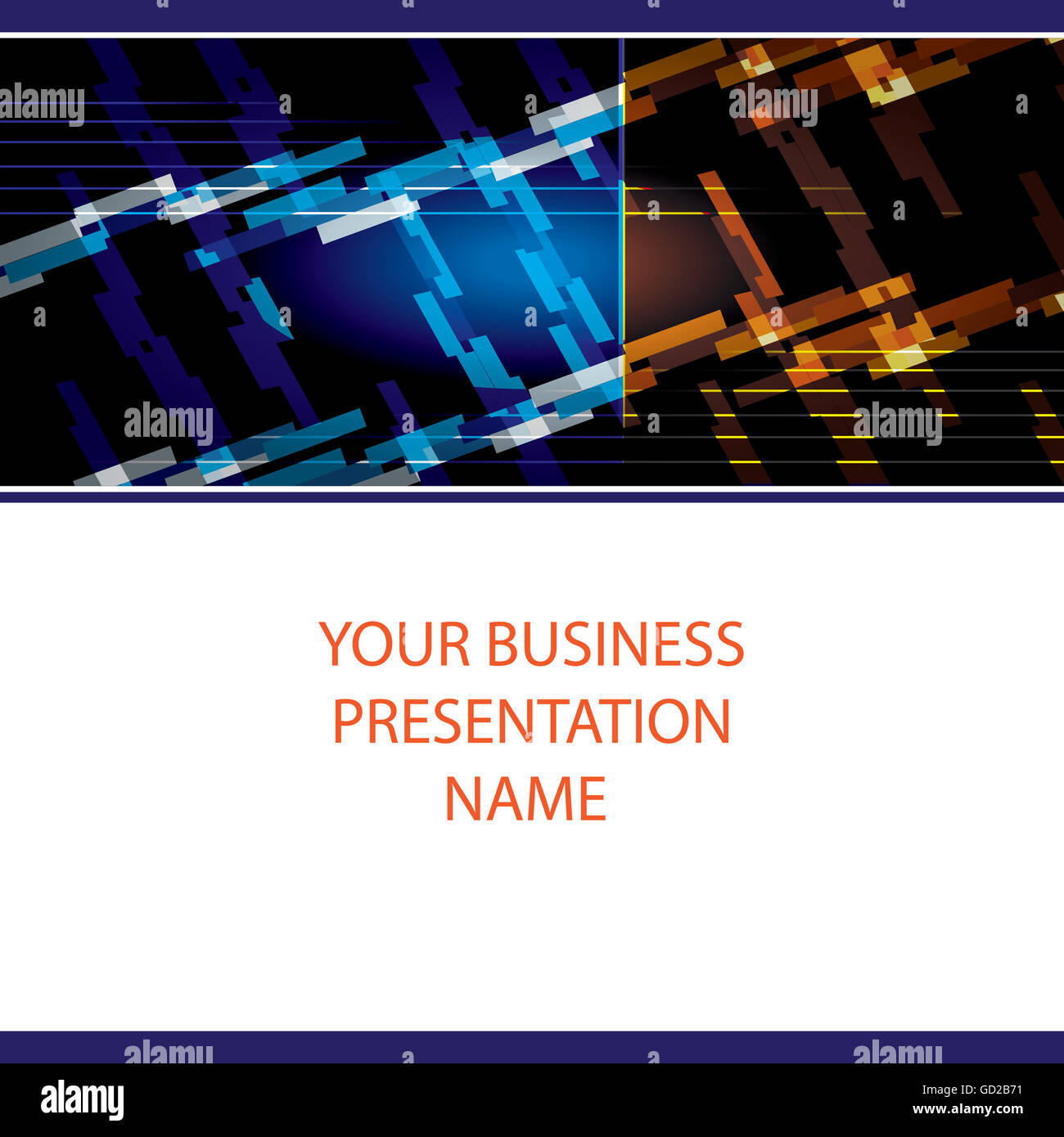 An abstract creative banner or an opening slide for any corporate business presentation. - Stock Image