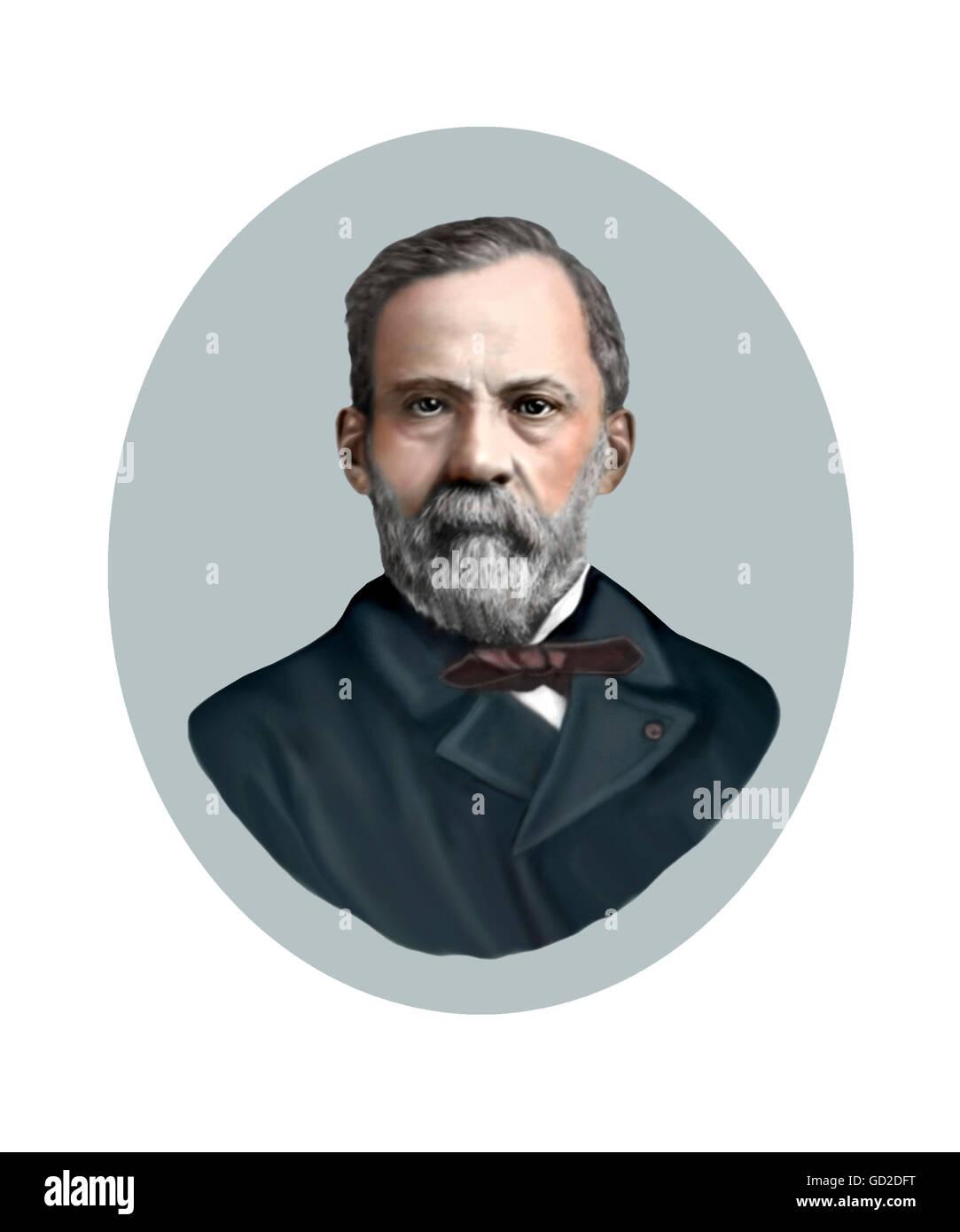 Louis Pasteur, 1822-1895, Chemist, Bacteriologist - Stock Image