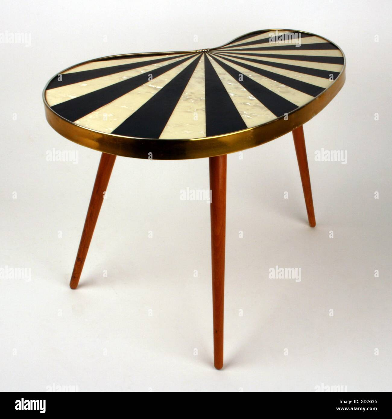 furniture examples. Furnishings, Furniture, Small Kidney Table (jardinière), Design Based On Western Examples, Made By: Several Craft Enterprises In The GDR, East-Germany, Furniture Examples