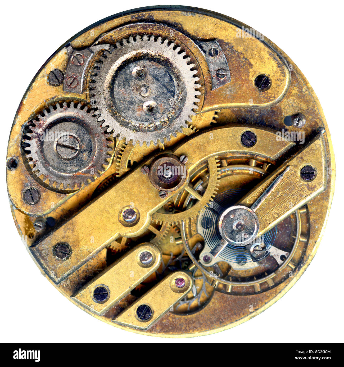 clock, clockwork of a pocket watch, made by unknown, France, circa 1900, Additional-Rights-Clearences-NA - Stock Image