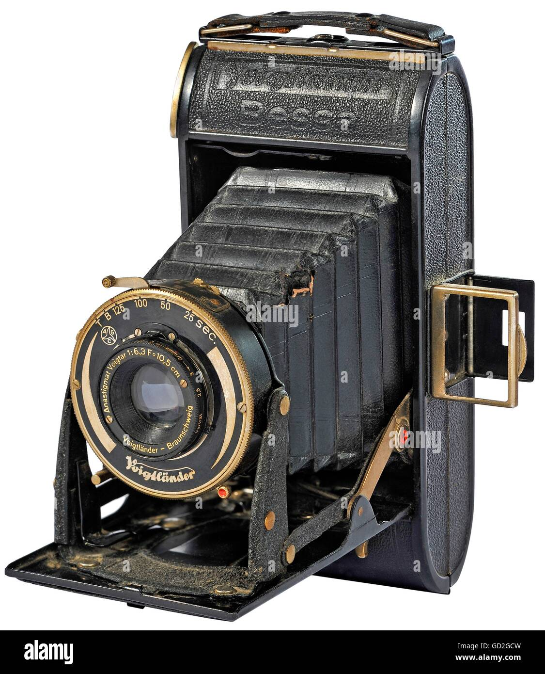 photography, camera, Voigtlaender 'Bessa', for roll-films, format 6 x 9, with lens Voigtar 6.3/120 Anastigmat, - Stock Image