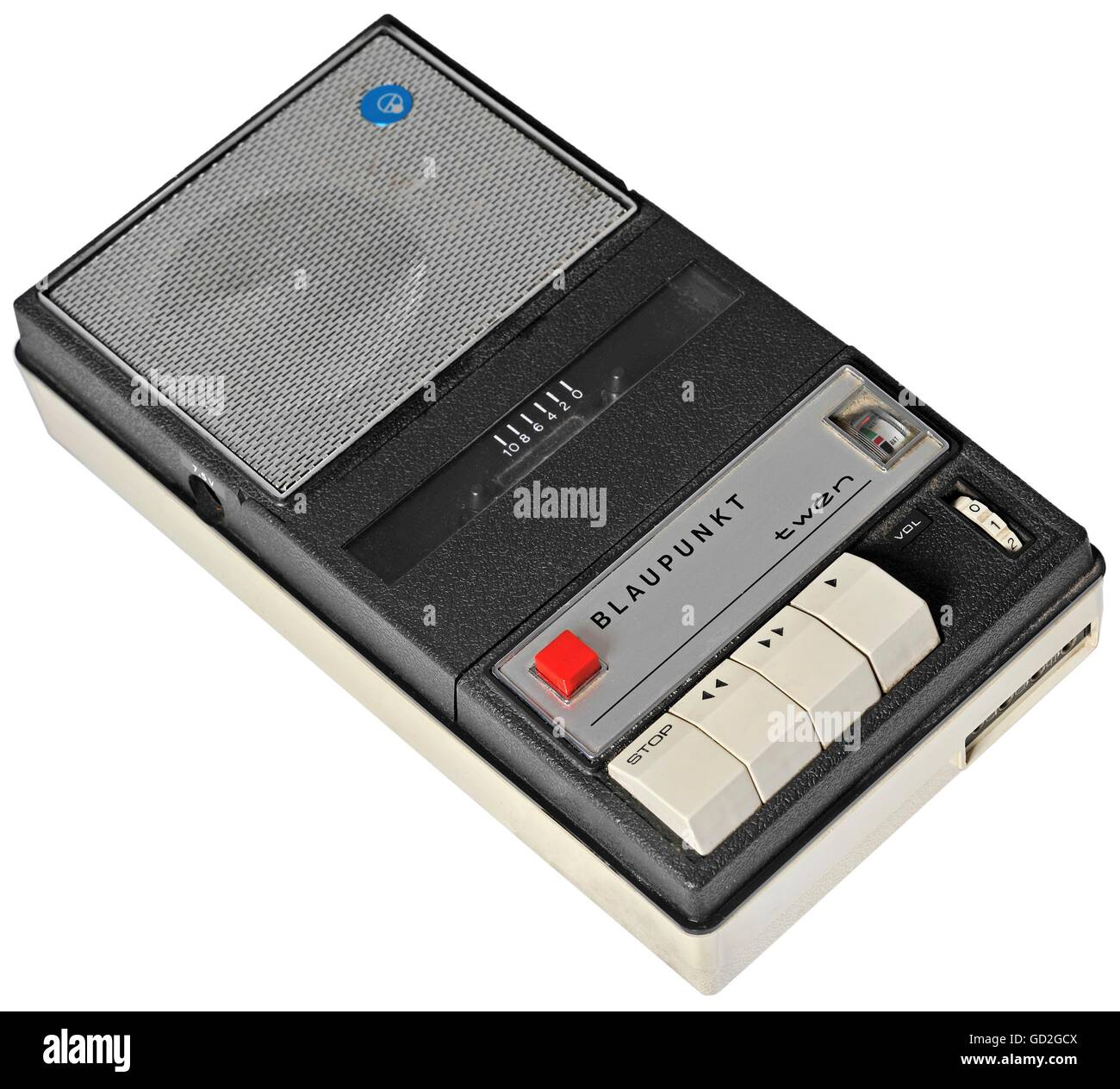 technics, tape recorder, cassette tape recorder, Blaupunkt 'twen', for compact cassette, for the recording - Stock Image