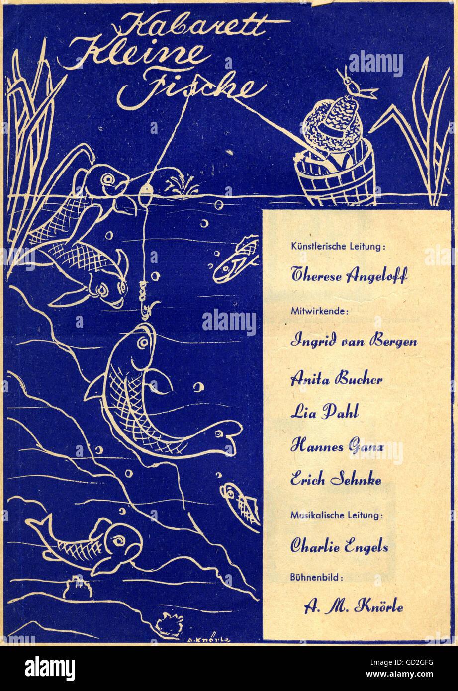 theatre / theater, cabaret, 'Die kleinen Fische' (The little fishes), 'Wir spielen verrückt' - Stock Image