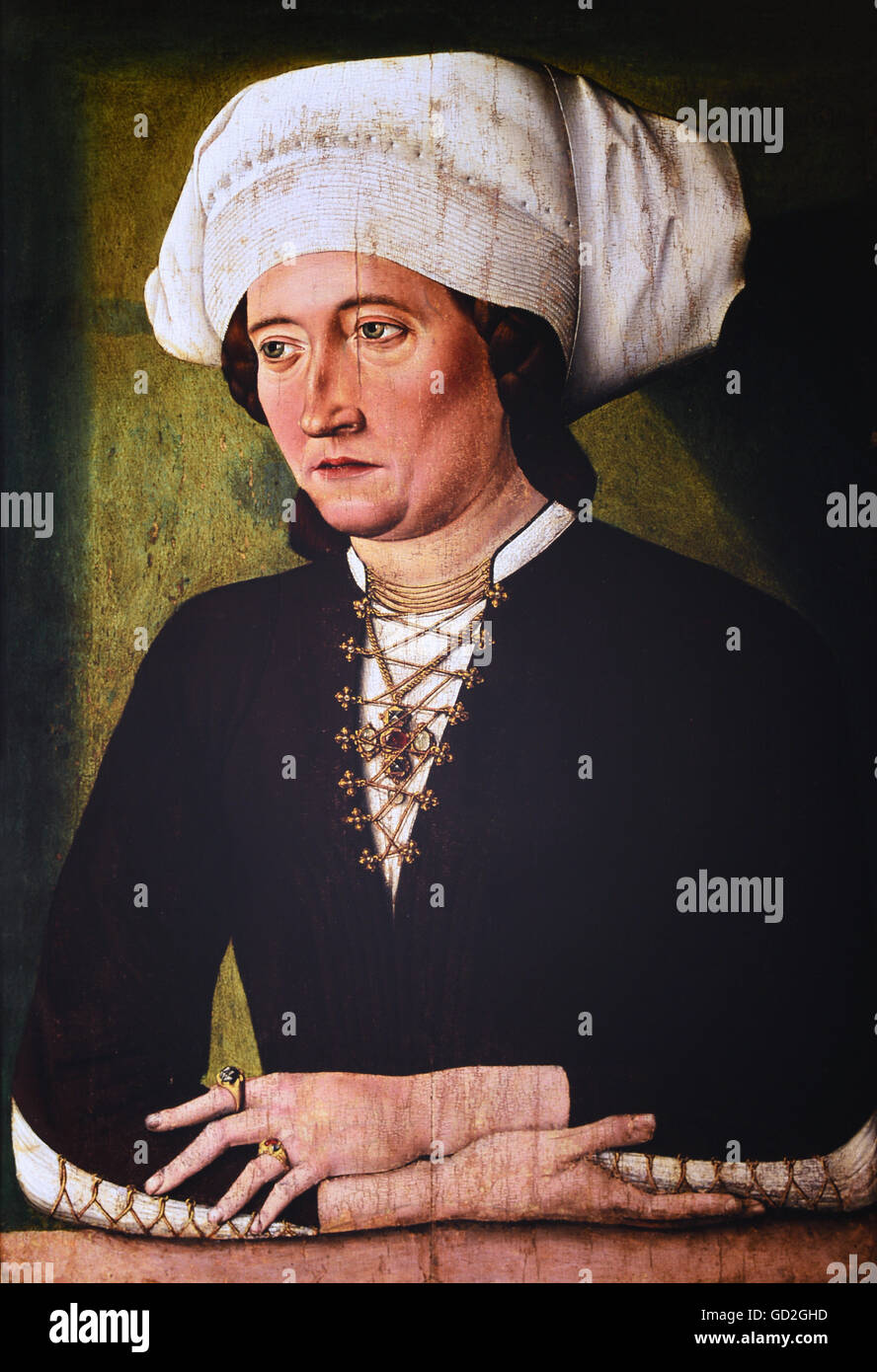 Portrait of a bourgeoise, circa 1475 - Stock Image