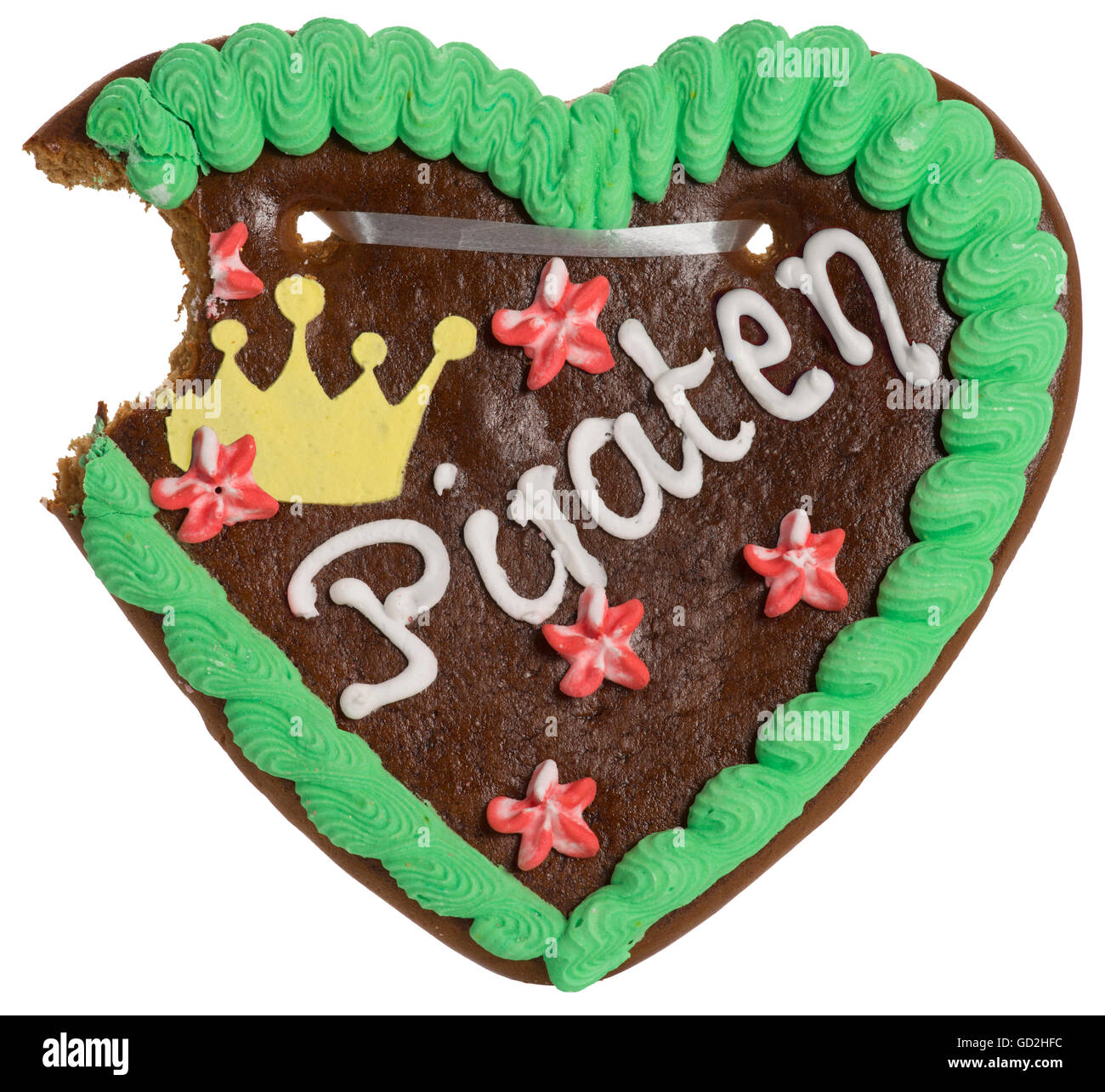 food, gingerbread, with the inscription 'Piraten', Germany, 2012, Additional-Rights-Clearences-NA - Stock Image