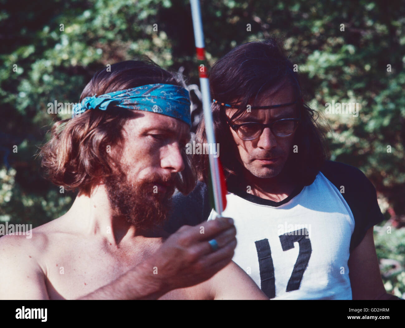 Gary Snyder, July 1969. - Stock Image