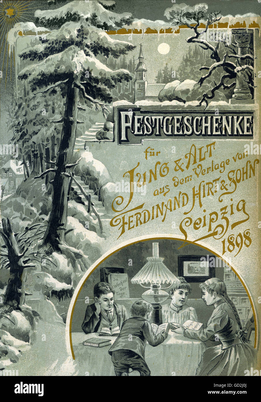 Christmas, celebration gifts for young and old from the publishing house of Ferdinand Hirt & Son Leipzig 1898, - Stock Image