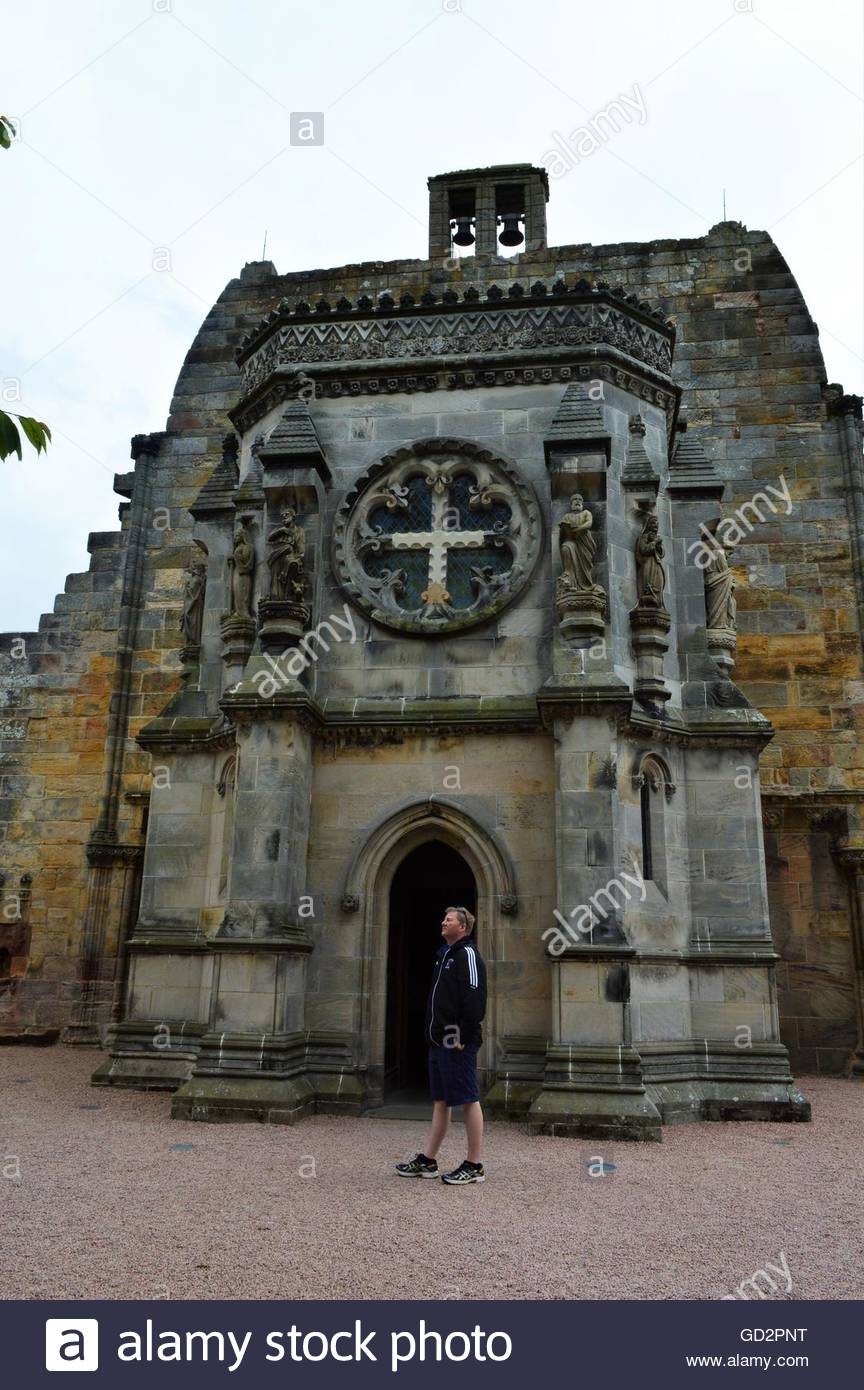 Rosslyn Chapel Side View - Stock Image