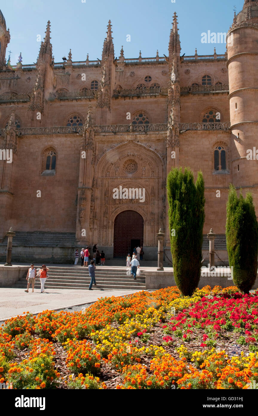 Facade of the cathedral. Salamanca, Spain. - Stock Image