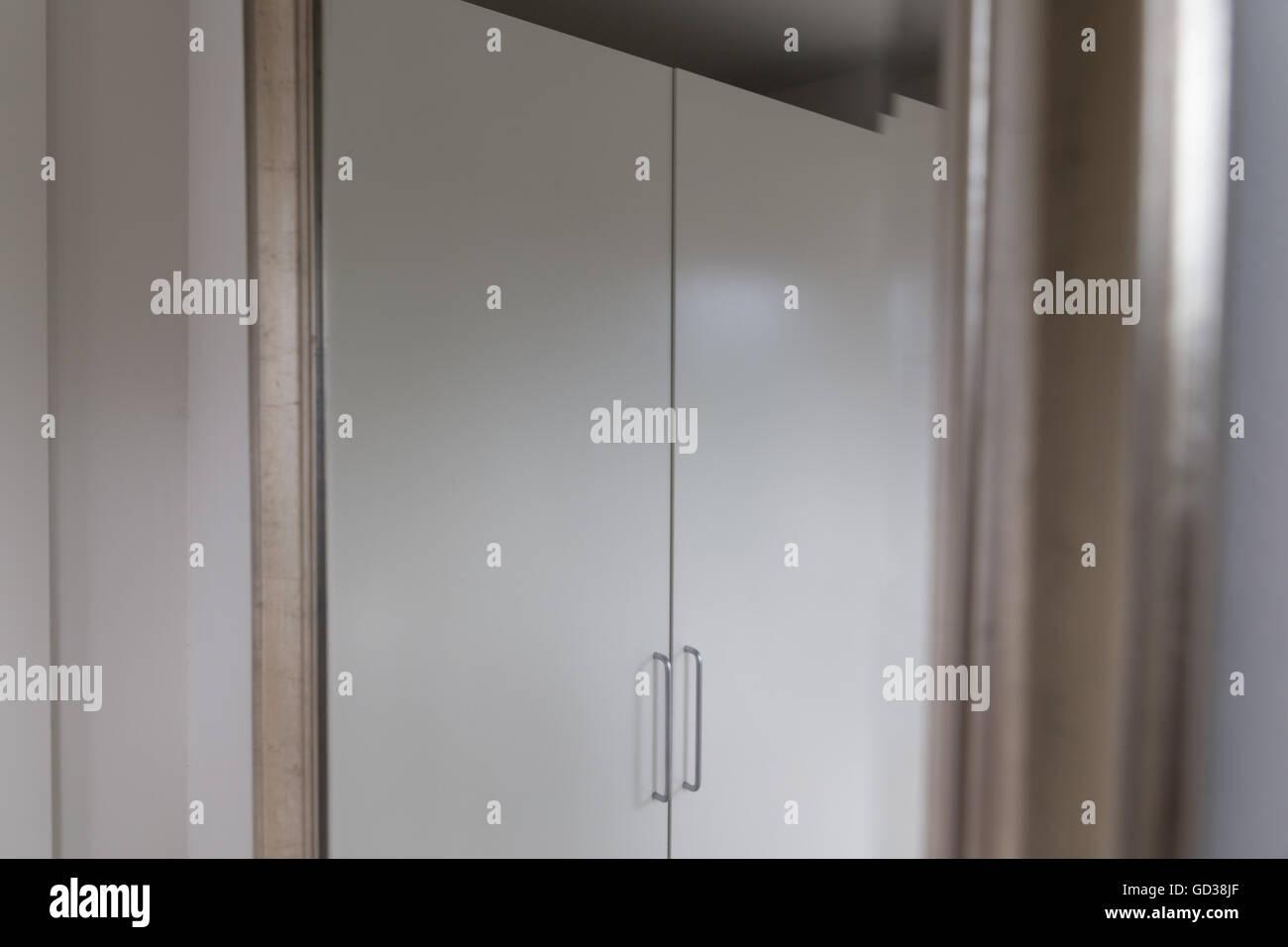 Closet seen through mirror - Stock Image