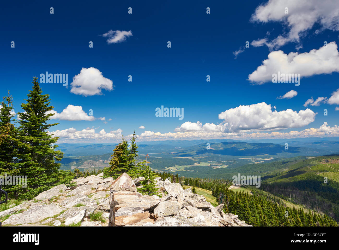 Mount Spokane in washington, USA. Stock Photo