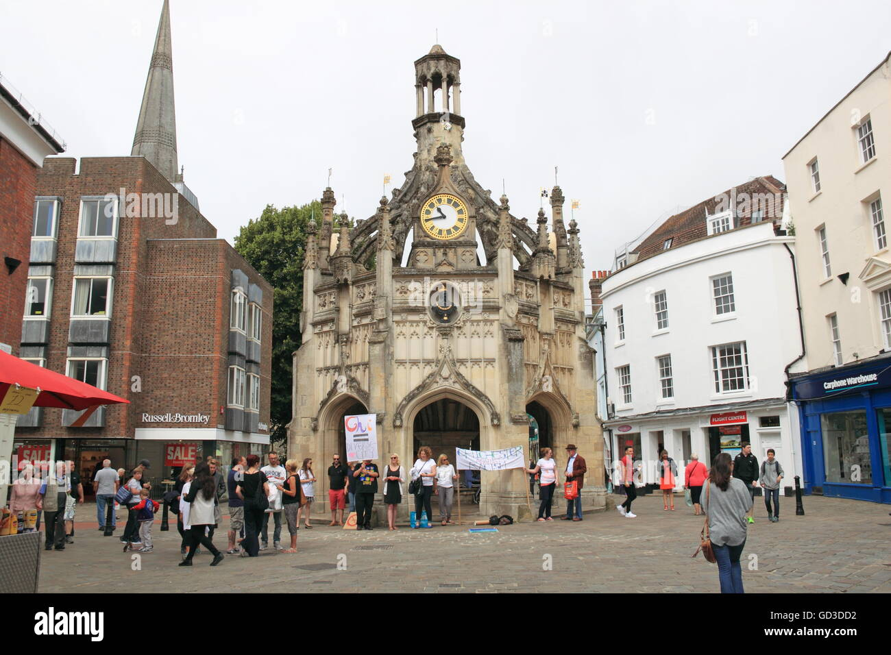 Market Cross from East Street, Chichester, West Sussex, England, Great Britain, United Kingdom, UK, Europe - Stock Image