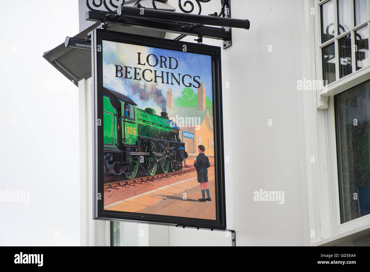 Exterior, signage at the Lord Beechings pub, owned by the