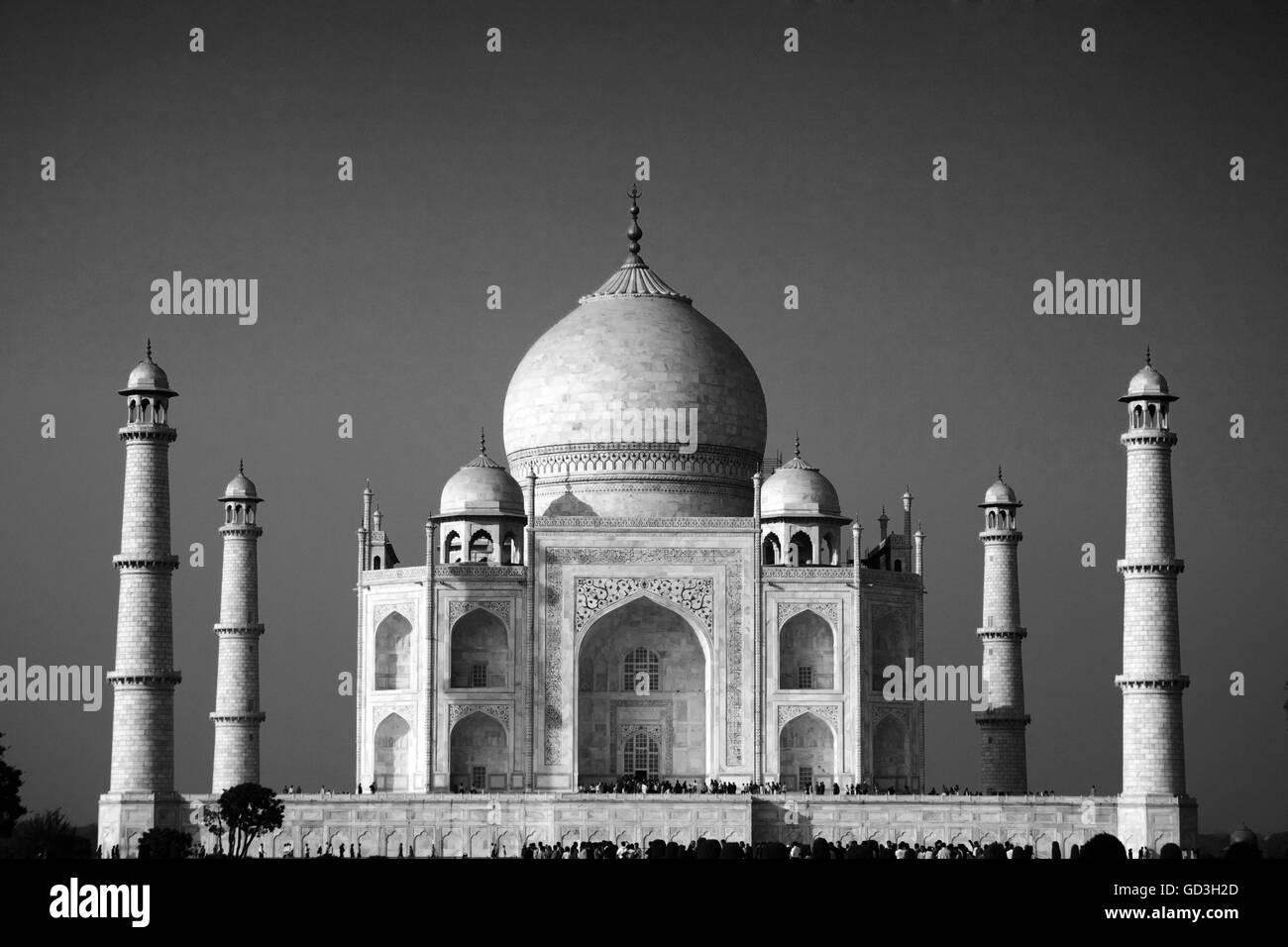 Taj Mahal, Agra, Northern India, Asia - Stock Image