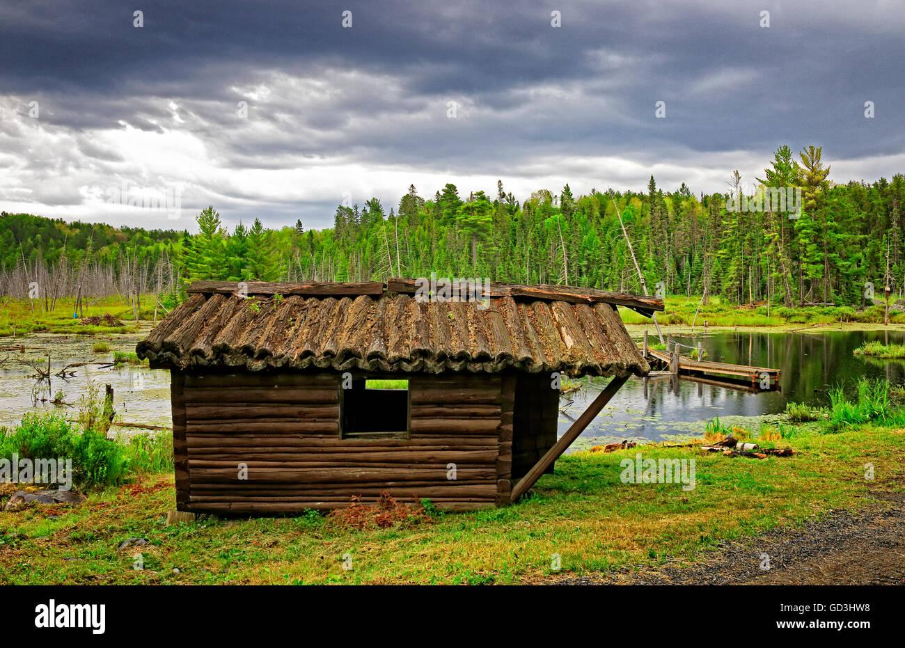 Abandoned Log Cabin Stock Photos Abandoned Log Cabin Stock