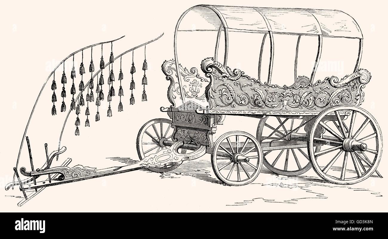 A Turkish araba, 19th century - Stock Image