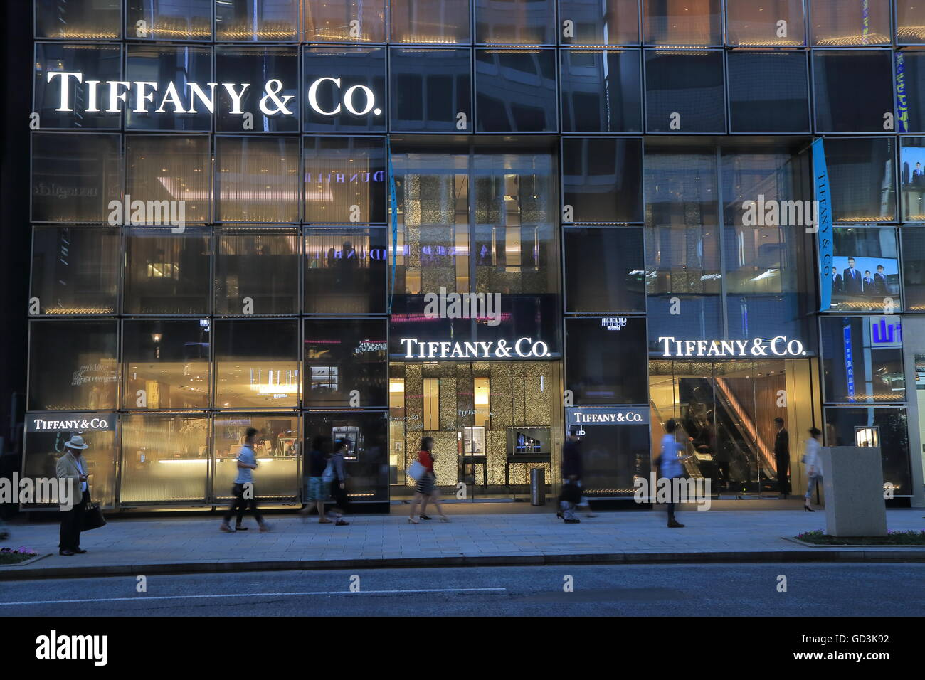dd0bb9f72 Tiffany and Co shop in Ginza Tokyo Japan Stock Photo: 111333742 - Alamy