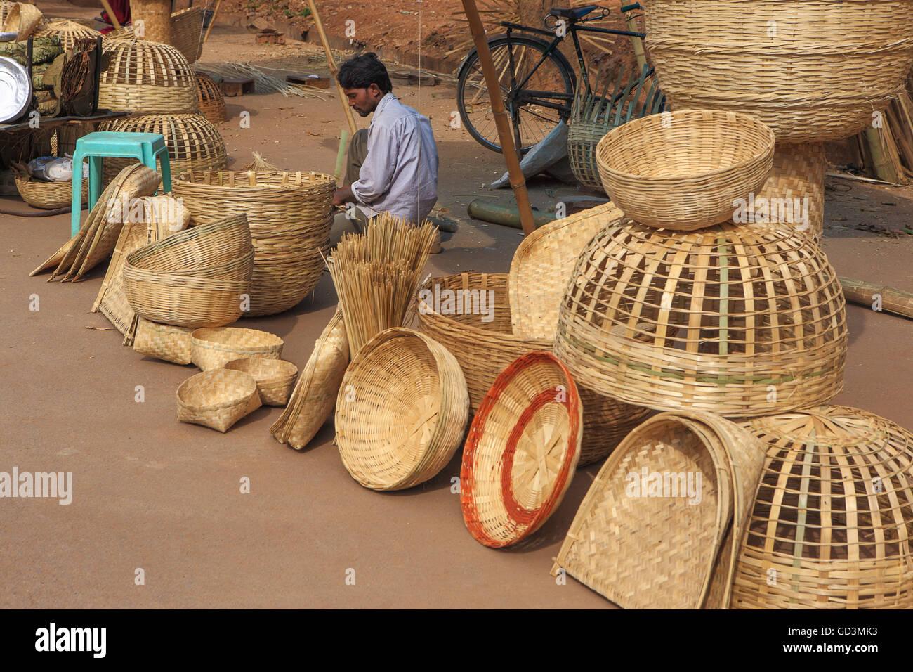 Bamboo Handicrafts Stock Photos Bamboo Handicrafts Stock Images