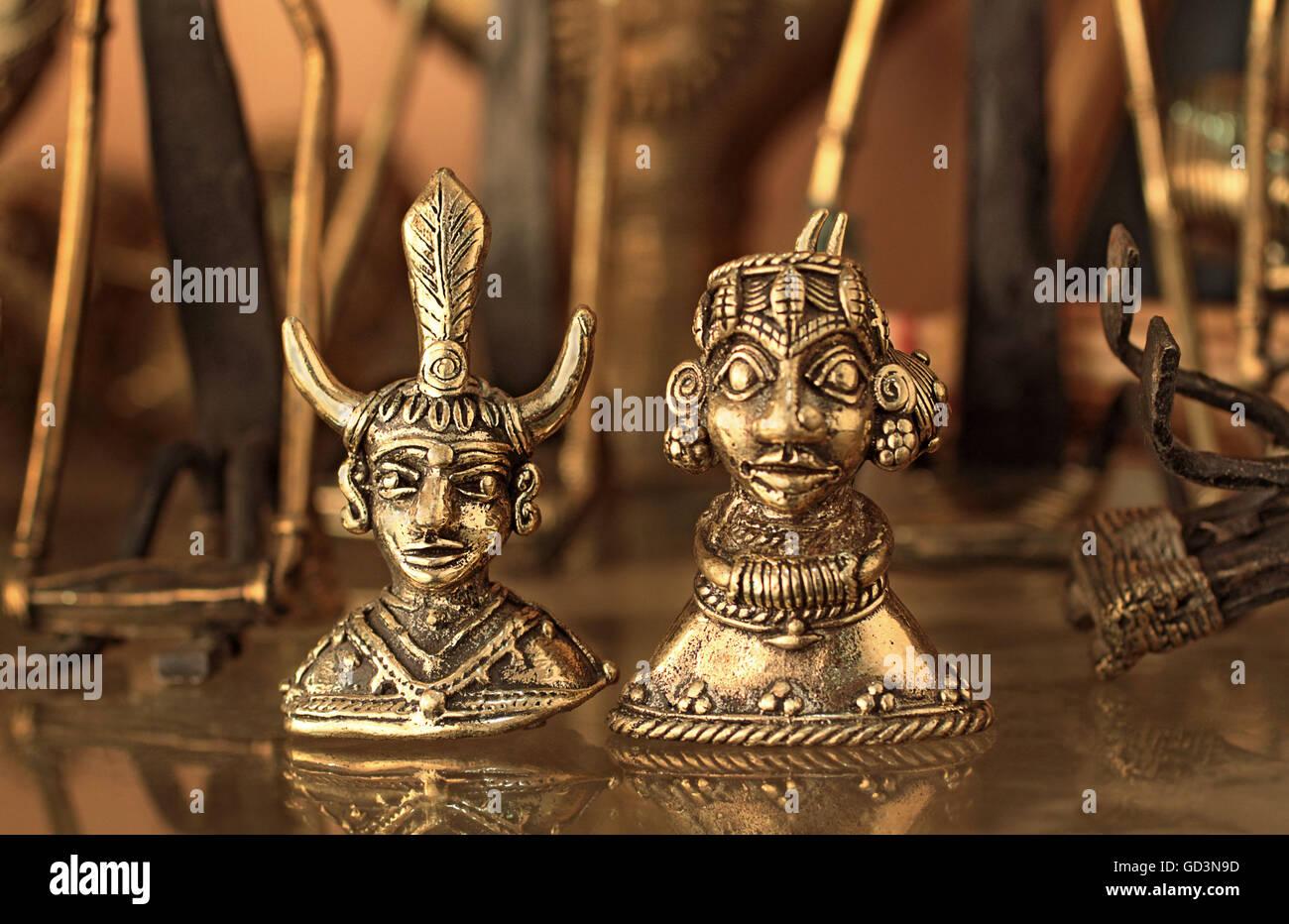 Bell Metal Handicraft Bastar Chhattisgarh India Asia Stock Photo
