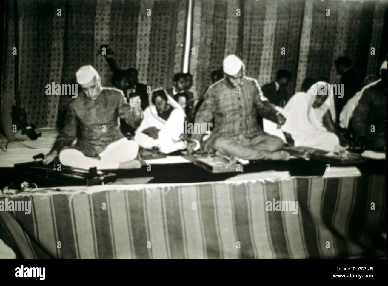 Pandit Jawaharlal Nehru - Stock Image