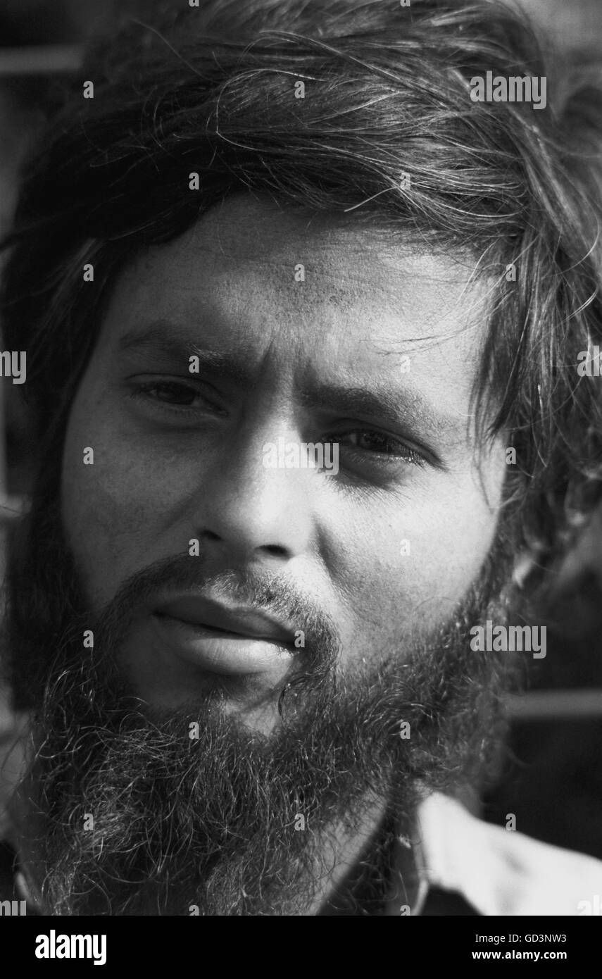 A bearded man - Stock Image