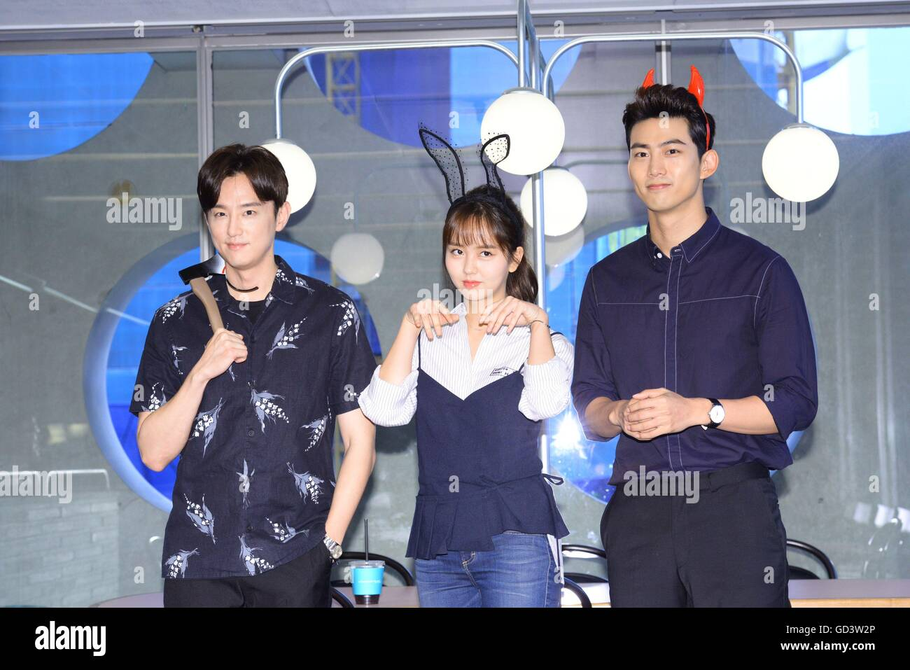 Seoul, Korea  11th July, 2016  Su-hyun Kim, Taecyeon and Se
