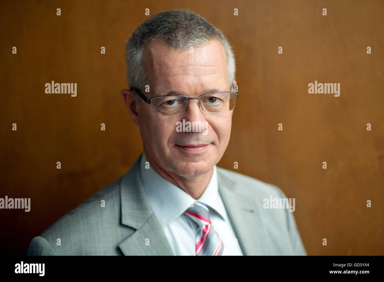 Berlin, Germany. 12th July, 2016. Rainald Becker, new editor-in-chief of the public service broadcaster ARD, photographed - Stock Image