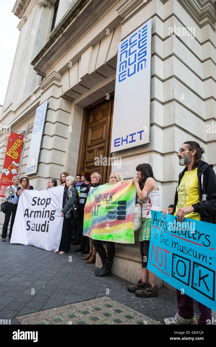London, UK. 11th July, 2016. Human rights campaigners initially occupied the space inside the Science Museum due - Stock Image