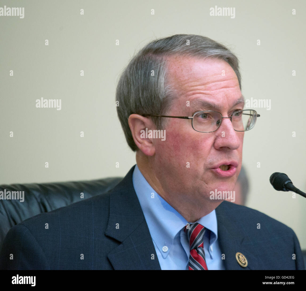 Washington, USA. 12th July, 2016. House Judiciary Chairman, Bob Goodlatte, R-VA quesitons Attorney General Loretta - Stock Image