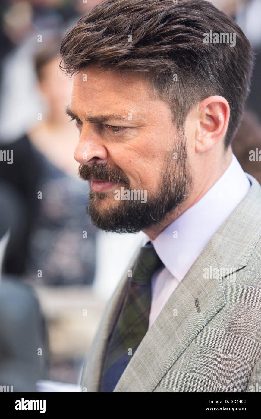 London, UK  12 July 2016  Actor Karl Urban (Dr Bones McCoy)  Red