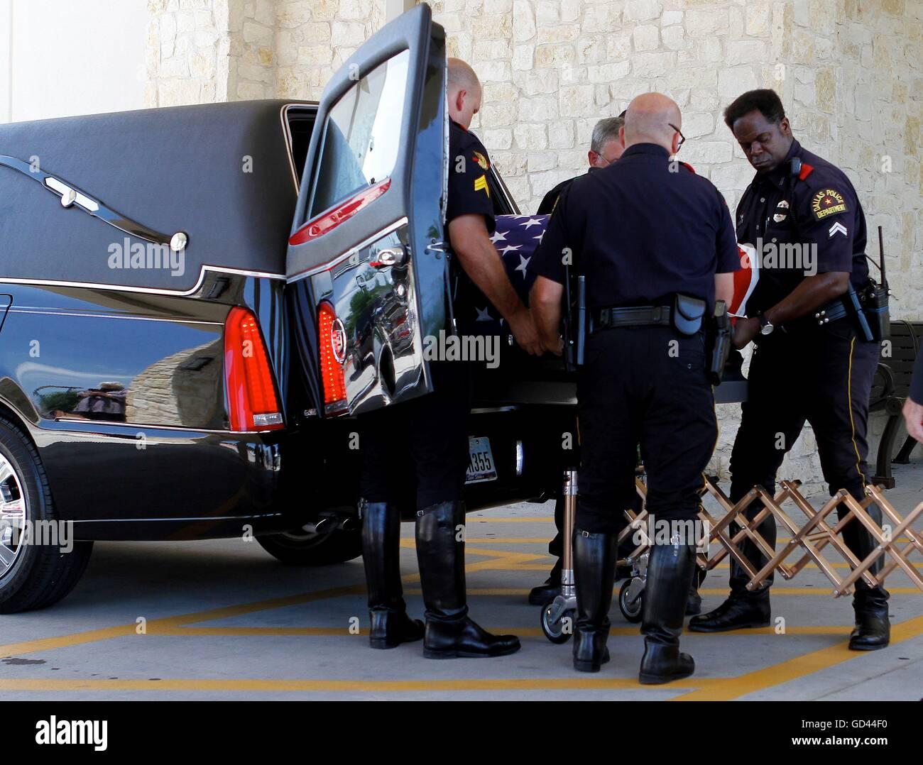 Dallas, Texas, USA  12th July, 2016  The body of Dallas