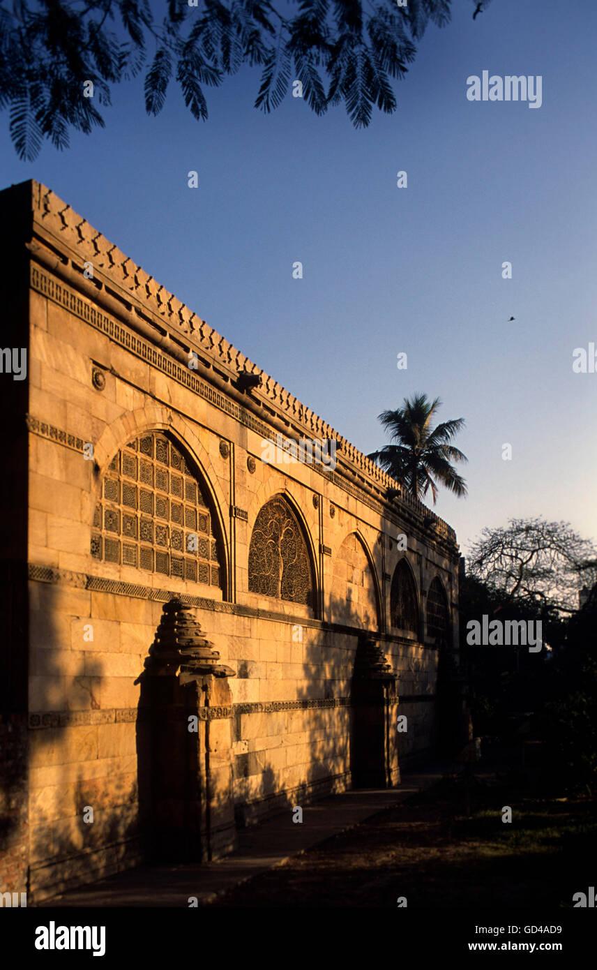 Sidi Saiyad's mosque - Stock Image