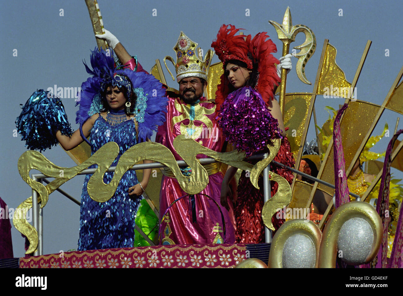 Artistes performing during the carnival - Stock Image