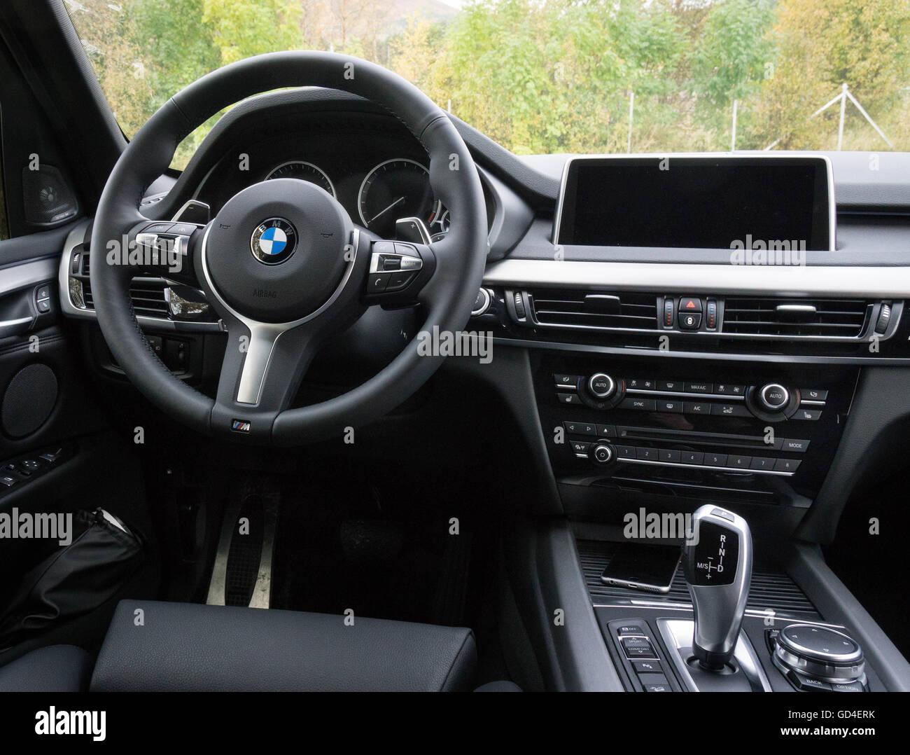 BMW X5 interior - Stock Image