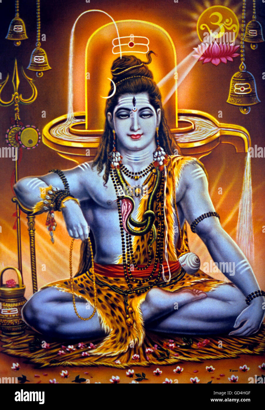Poster of Shiva - Stock Image